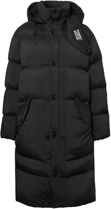 Burberry Detachable Hood Stretch Nylon Puffer Coat