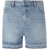 Dorothy Perkins Womens **Tall Mid Wash Let Down Hem Shorts- Blue