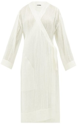 Jil Sander Wrap-over Linen Robe - Ivory