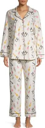 Bedhead Pajamas 2-Piece Makeup Print Pajama Set