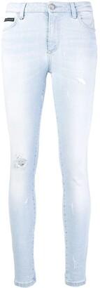 Philipp Plein Super Skinny Distressed Jeans