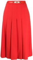 Celine Pre Owned 1970s pleated belted skirt