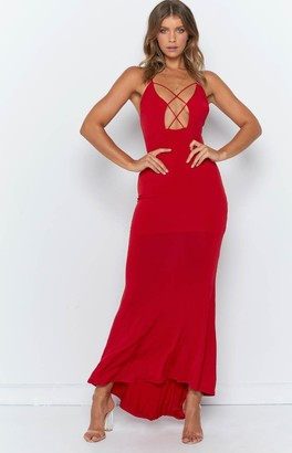 Beginning Boutique Anastasia Maxi Dress Red