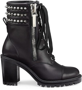 Christian Louboutin Winter Spiked Leather Combat Boots