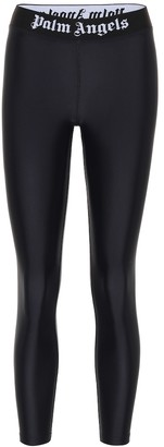 Palm Angels Logo technical-jersey leggings