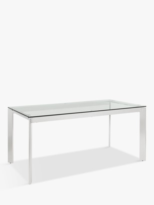 John Lewis & Partners Tropez 6 Seater Glass Top Dining Table