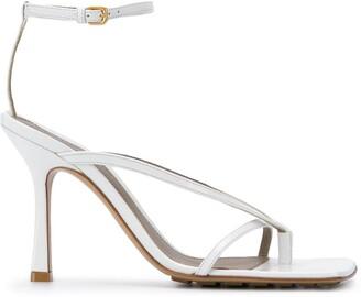 Bottega Veneta Strappy Square-Toe Sandals