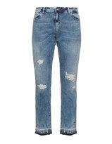 Zizzi Plus Size Distressed slim fit jeans