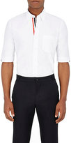 Thom Browne Men's Grosgrain-Trimmed Oxford Cloth Short-Sleeve Shirt
