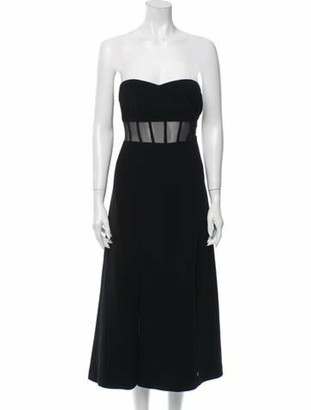 Cinq à Sept Strapless Midi Length Dress w/ Tags Black