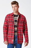 Modern Amusement Plaid Flannel Sherpa Shacket