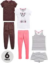 Very Girls Pug Life Pyjamas (6 Piece)