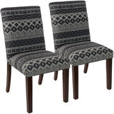 Skyline Furniture Black Shannon Uptown Side Chairs, Pair