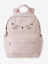 Cat Backpack - pink light solid with design, Girls | Vertbaudet