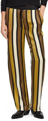 Scotch & Soda Stripe Wide Leg Pants