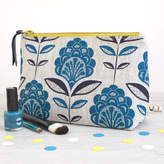 Lulu & Luca Peacock Flower Print Make Up Bag