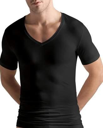 Hanro Cotton Superior Short-Sleeve V-Neck