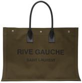Saint Laurent Khaki Rive Gauche Noe Tote