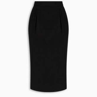 Versace Black structured skirt