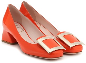 Roger Vivier Tres Vivier 45 patent-leather pumps