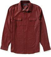Perry Ellis Jasper Slim-Fit Long-Sleeve Solid Woven Shirt