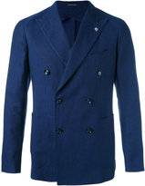 Tagliatore - woven double breasted jacket - men - Cotton/Linen/Flax/Cupro - 50
