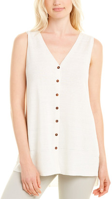 Lafayette 148 New York Relaxed Linen-Blend Sweatervest