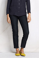 Lands' End Women's Not-Too-Low Rise Slim Ankle Jeans-Barley Heather Rib