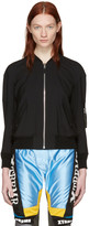 Junya Watanabe Black Wool Bomber Jacket