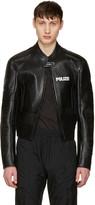 Vetements Black Leather Racing Jacket