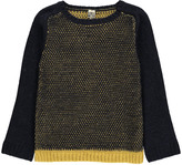 Bonton Two-Tone Jacquard Alpaca Wool Jumper