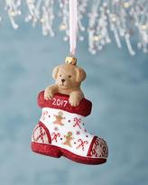 Mattarusky Ornaments Charlie Dog in Boot Gingerbread Christmas Ornament