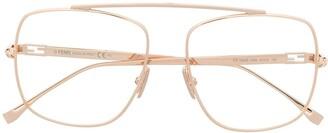 Fendi Aviator-Frame Glasses