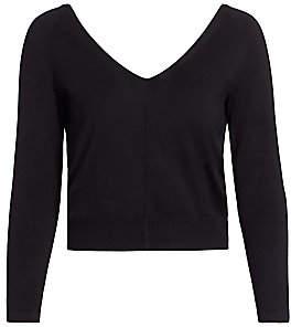 Akris Women's Double V-Neck Silk Knit Sweater