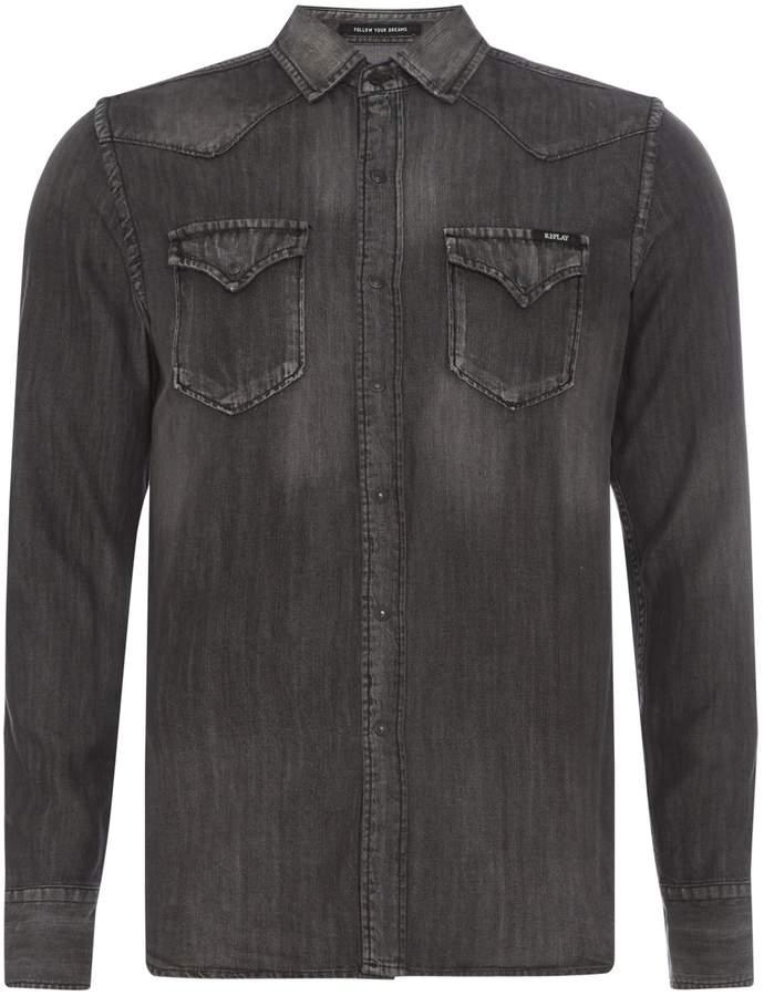 Replay Men's Lyocell Denim Shirt