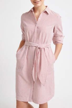 Sportscraft Lolita Seersucker Stripe Shirt Dress