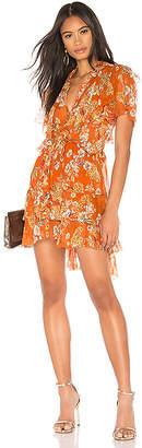 Nicholas Floral Ruffle Cascade Dress