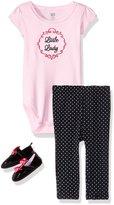Hudson Baby Girls' Shoe, Bodysuit and Pant