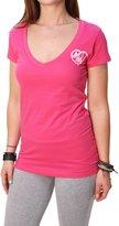 Metal Mulisha Women's Lovely Roses Short Sleeve V-Neck T-Shirt