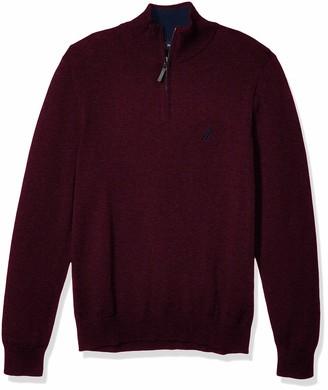Nautica Men's Classic Fit Quarter Zip Sweater