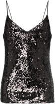 Galvan Moonlight sequin embellished vest