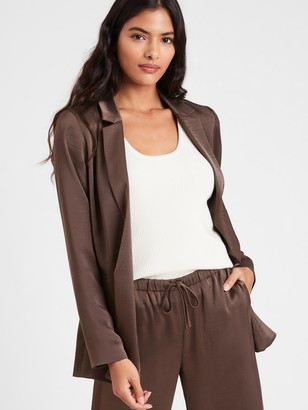 Banana Republic Satin Soft Blazer