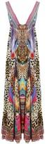 Camilla Kingdom Call Long Drawstring Dress in Tribal Pink