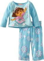 AME Sleepwear Dora the Explorer Pretty Ballerina Blue Pajama Set for girls (24 mo)