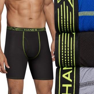 Hanes Men's Big & Tall Ultimate 3-pack Sport X-Temp Mesh Longer-Leg Boxer Briefs