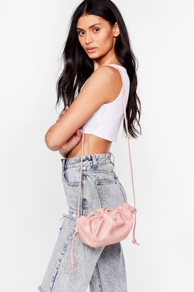 Nasty Gal Womens WANT A Real Slouch Ruched Crossbody Bag - Pink - One Size