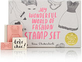 Chronicle Books My Wonderful World of Fashion Stamp Set