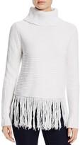 MICHAEL Michael Kors Turtleneck Fringe Sweater