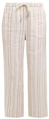 Max Mara Billy Trousers - Womens - Burgundy White