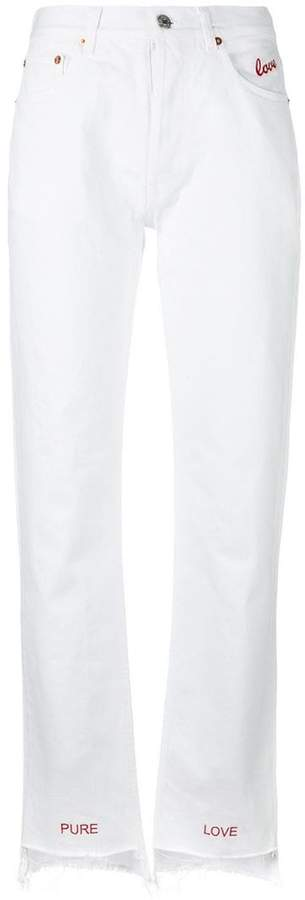 Couture Forte Dei Marmi embroidered lovers jeans
